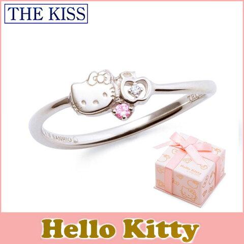 ハロー キティー 【HELLO KITTYxTHE KISSコラボ】 THE KISS シルバー リング 【レディース販売】 SV925製 フェイスモチーフ x リンゴ x ダイヤモンド KITTY-35DM 記念日