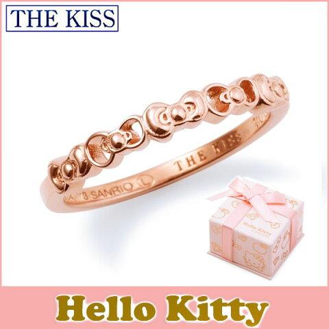 ハロー キティー【HELLO KITTYxTHE KISSコラボ】 THE KISS シルバー ピンキー リング 【レディース販売】 SV925製 リボンモチーフ ピンクコーティング KITTY-13 記念日