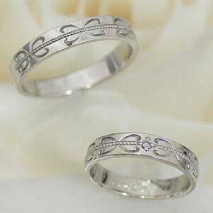結婚指輪マリッジリングホワイトゴールドペアリングレディースダイヤモンドK10WG製【ペア特価】刻印☆きれいな刻印が入ります結婚記念日ホワイトデー【_名入れ】★ふたりの絆★