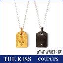 送料無料 THE KISS シルバー メッセージ ペアネックレス ダイヤモンド 【ペア販売】 SV925製 イエロー & ブラックコーティング 「 OUR LOVE WILL DEEPEN AS WE SPEND MORE DAYS TOGETHER. 」(二人で過ごす日々、深まる愛) SPD1857DM-SPD1858DM ホワイトデー