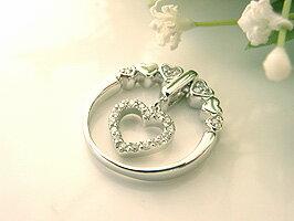 誕生日プレゼントに最適なジュエリー アクセサリー♪上戸彩さん贈呈モデル K18WGハートダイヤ...