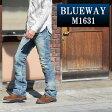 BLUEWAY:ビンテージデニム・エンジニアフレアーカットジーンズ(シェーバーフェード):M1631-5705 ブルーウェイ ジーンズ メンズ デニム ジーパン 裾上げ