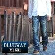 BLUEWAY:ビンテージデニム・エンジニアフレアーカットジーンズ(ブラックシェーバー):M1631-5761 ブルーウェイ ジーンズ メンズ デニム ジーパン 裾上げ