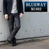BLUEWAY:ソリッドストレッチデニム・セミブーツカットジーンズ(ワンウォッシュ):M1882-8100BLUEWAY(ブルーウェイ)JEANS