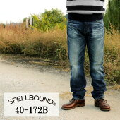 SPELLBOUND:13.5ozセルヴィッチデニム・5Pオーセンティックストレートジーンズ(ユーズド):40-172BSPELLBOUND(スペルバウンド)JEANS