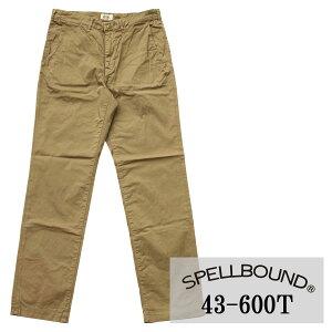 SPELLBOUND:チノストレッチ ナロートラウザー(ベージュ):43-600T スペルバウンド メンズ 裾上げ 夏用 夏服 チノパン