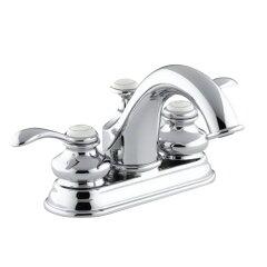 コーラー社 洗面混合水栓 K-12266-4-CP クローム