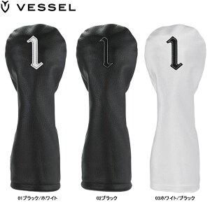 【19年モデル】ベゼル 本革製ヘッドカバー(ドライバー用) HC3117 Genuine Leather Headcover (DW) VESSEL