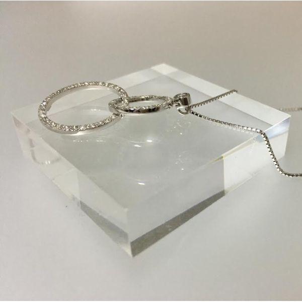 ネックレスレディースK18WGダイアモンドペンダントK18ホワイトゴールドダイア0.48ctプチネックレス綺麗なダイアネックレス