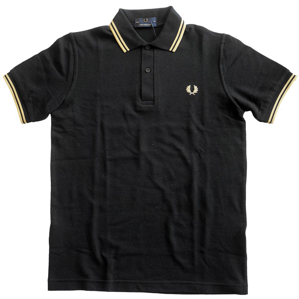 フレッドペリー FRED PERRY 公認 ポロシャツ メンズ M12N ティップライン 半袖 鹿の子 インポートライン 英国製 model-M12N メーカーPRICE:12,000yen(+tax)