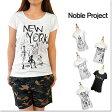 [在庫一掃♪70%OFF]Noble Project【ノーブル プロジェクト】レディース Tシャツ カットソー 半袖 コットン プリント TEE T-SHIRT model-no NP1001B-51/NP1002B-51/NP1003B-51/NP1051B-51/NP1057B-51