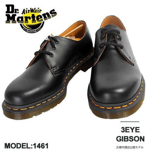 メンズ靴, ビジネスシューズ  3 Dr.Martens 1461 1461 3EYE GIBSON SHOE 1461 59 10085001 BLACK SMOOTH