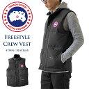 カナダグース ダウンベスト メンズ CANADA GOOSE フリースタイル クルー ベスト ダウンジャケット アウター Freestyle Crew Vest (4154M) BLACK(61) ブラック 【2021AW 新作】 本国 正規品