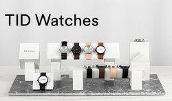 [ブランド公式]TIDWatchesティッドウォッチ腕時計シルバー文字盤革ベルト40mmウォッチアナログ表示クウォーツレザーベルトメンズレディースティッドウォッチズmodel-TID01-SV送料無料2016SS新作