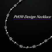 チェーン プラチナ デザイン ネックレス フラワー ジュエリー プレゼント クリスマス