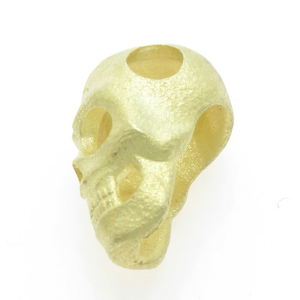 ドクロ K18 スカル 髑髏 メンズ 地金 どくろ ロック スカル skull ペンダントトップ ペンダントヘッド
