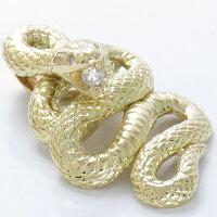 蛇ペンダントヘッドK18ダイヤモンド0.11ct特大へび特大メンズ男性用18金本物喜平向け大振りペンダントヘッド他店には絶対無いデザインです。
