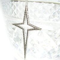 ダイヤモンドペンダントネックレスK18ホワイトゴールドキースタークロス星十字架星型クロス18金K18YGK18WGK18WG送料無料プレゼントギフト対応メンズレディース