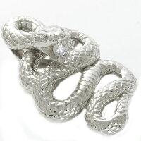 蛇ペンダントヘッドプラチナ900ダイヤモンド0.11ct特大へび特大メンズ男性用Pt900本物喜平向け大振りペンダントヘッド