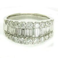 テーパーダイヤモンドハーフエタニティリング2ctプラチナPt900バゲットダイヤモンド希少送料無料プレゼントギフト対応希少な角ダイヤ
