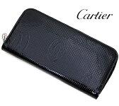 Cartier カルティエ ハッピーバースデー ラウンドファスナー長財布 ブラック ヴァーニッシュ カーフスキン L3001285 【送料無料】【05P03Dec16】