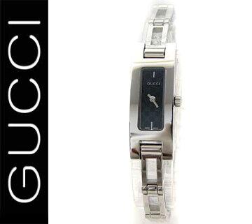 【GUCCI】グッチレディースウォッチ腕時計シルバー×ブラックGGマークYA039545【送料無料】