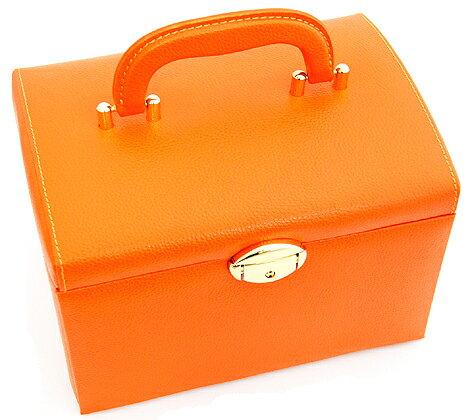 ジュエリーボックス JewelryBox 宝石箱 JB-8200 オレンジ×ゴールド