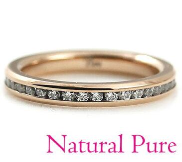 Natural Pure ナチュラル ピュア ノンアレルギー ステンレス ピンクゴールド フルエタニティ リング 指輪 アクセサリー サイズ13号 NP-106-13【05P03Dec16】