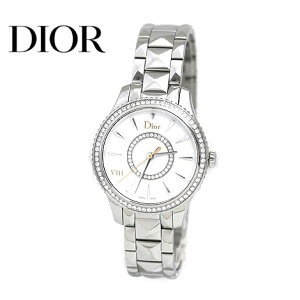 DIOR迪奥CD152111M001 VIII Montaigne Montaigne手表女士手表钻石银色x白色表盘[免费送货]