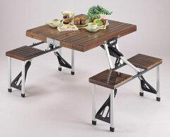 収納・持ち運び簡単の折りたたみテーブル。テラス・ベランダデッキに!キャンプやガーデニング...