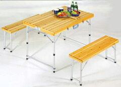 収納・持ち運び簡単の折りたたみテーブル。 テラス・ベランダデッキに!キャンプやガーデニング...