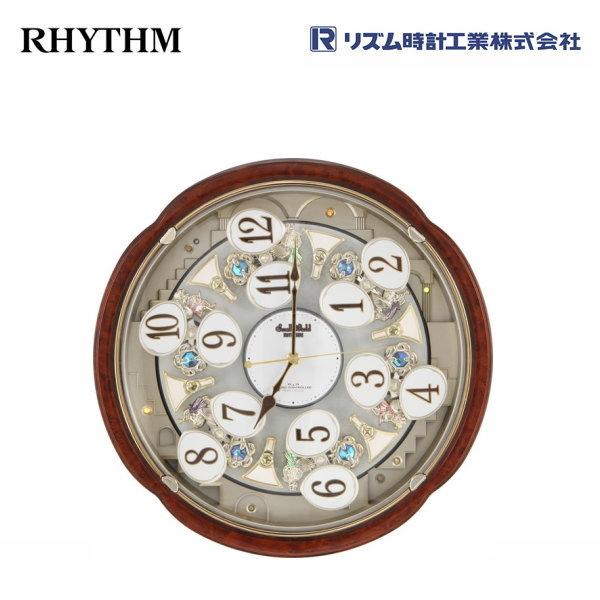 スモールワールドコンベルS 4MN480RH23 【条件付送料無料】 電波掛け時計/おしゃれな壁掛け電波時計/電波掛時計/電波からくり時計/電波アミュージング時計/時報メロディー・かわいい回転飾り/リズム時計工業(RHYTHM・シチズン系列)