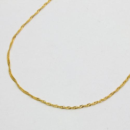 数量限定大特価純金 ネックレス (K24)(42cmゆったりサイズ・スクリュー)】[金貨/18金/24金ゴールド純金]