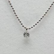 プレゼントオススメ プラチナ ホワイトカラー ダイヤモンド ペンダント