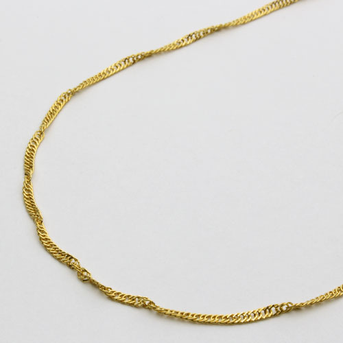純金ネックレス(K24)ゆったりセミロングサイズ・スクリュー