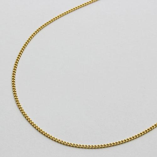 純金(K24)2面カットキヘイネックレス45cm 24金 3g【楽ギフ_包装