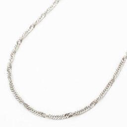 【送料無料】 純プラチナ ネックレス (Pt999)ゆったりサイズ スクリュー 50cm お洒落 レディース シンプル オシャレ