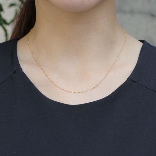 純金ネックレス チェーン 24金 K24 42cm 1.3gスクリューネックレス【smtb-k】【楽ギフ_包装】