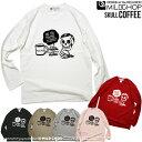SKULL COFFEE /オリジナルロングTシャツ/ネット限定長袖Tシャツ【cloth】MILDCHOP