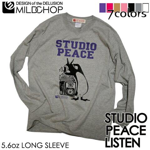 スタジオピース【LISTEN】/オリジナルロングTシャツ/ネット限定長袖Tシャツ【cloth】MILDCHOP