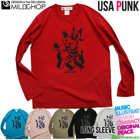 USA(ウサ)PUNK / オリジナルロングTシャツ/ネット限定長袖Tシャツ【cloth】MILDCHOP