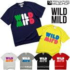 WILD MILD/オリジナル半袖Tシャツ/ロック/スカル/オリジナル/キャラクター/音楽/アニマル/デザイン/ロゴ/メッセージ/ピース/ネット限定Tシャツ【cloth】MILDCHOP by JACA JACA