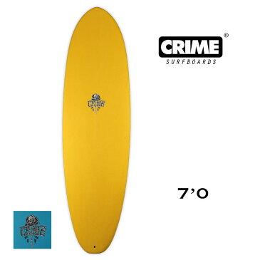 CRIME SURFBOARDS|クライムサーフボード STUBBY 7'0×22'1/2×2'7/8【50L】スタビー ミッドレングス ディジョカラー ティールカラー シングルフィン
