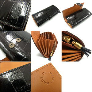 Felisiフェリージ3005-SAコロコロ長財布クロコ型押しレザー全3色