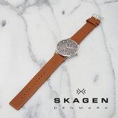 SKAGEN スカーゲン メンズ腕時計 40mm HOLST ホルスト グレー×ブラウン  SKW6086 スカーゲン 腕時計 メンズ