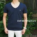 EMPORIO ARMANI エンポリオ アルマーニ 半袖VネックTシャツ 00135/ネイビー 111767 8P510