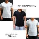 EMPORIO ARMANI エンポリオ アルマーニ 半袖VネックTシャツ 3枚セット アンダーウェア 110856 CC722 09810 エンポリオアルマーニ tシャツ