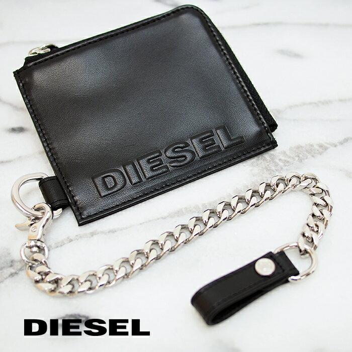 財布・ケース, メンズ財布 DIESEL L L-ZIP CHAIN X07715 PR818 T8013 diesel L