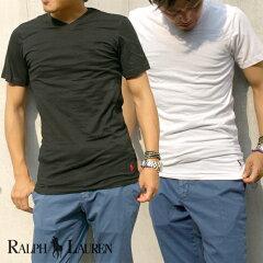 POLO RALPH LAUREN ポロ ラルフローレン SLIM-FIT スリムフィット Three Cotton / V-Necks Vネック ワンポイント Tシャツ 肌着 インナー 全2色