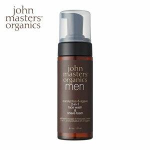 john masters organics ジョンマスターオーガニック  E&Aフェイスウォッシュ&シェーブフォーム(ユーカリ&リュウゼツラン) 177mL  即納